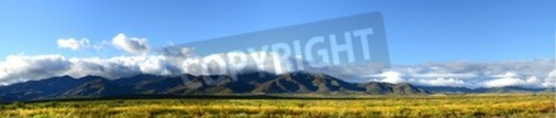 Bild auf Leinwand   Panoramic view of the mountains and plains of northern N...
