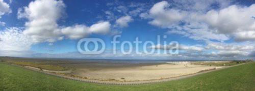 Bild auf Poster   Panoramabild Strand von Norden-Norddeich