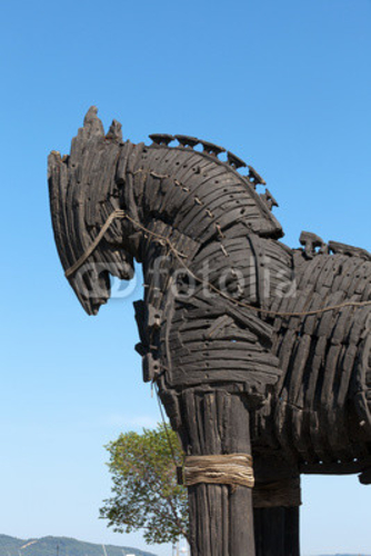 Bild auf Poster   The copy of Troy wooden horse at Canakkale, Turkey