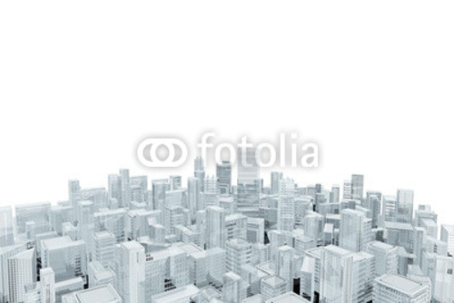 Bild auf Poster   Aerial view of city buildings