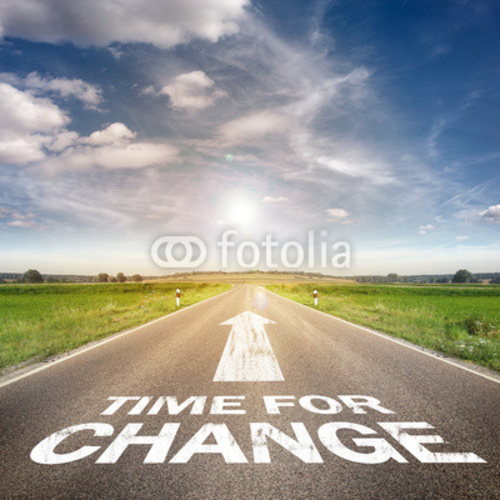 Bild auf Leinwand   Time for change