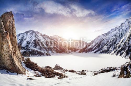 Bild auf Poster   Winter Mountain Lake