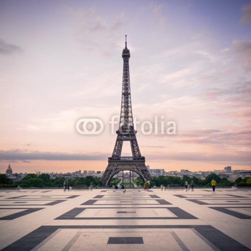 Bild auf Leinwand   Trocadero and Eiffel Tower at sunshine. Paris, France.
