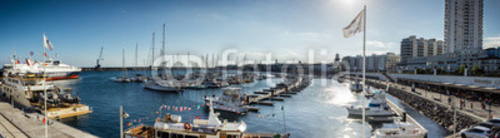 Bild auf Poster   Azores, Sao Miguel yacht and fishing harbor