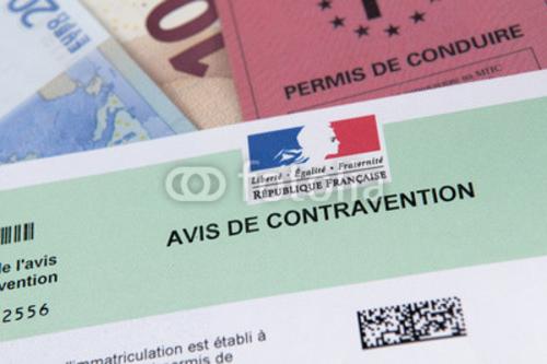 Bild auf Poster   contravention permis