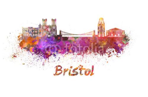 Bild auf Poster   Bristol skyline in waterFarbe