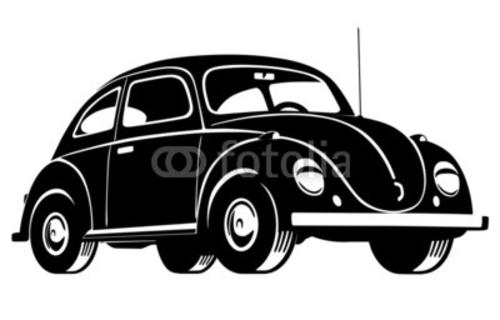 Bild auf Poster   Beetle Car
