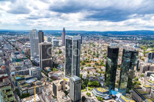 Bild auf Poster   Financial district in Frankfurt