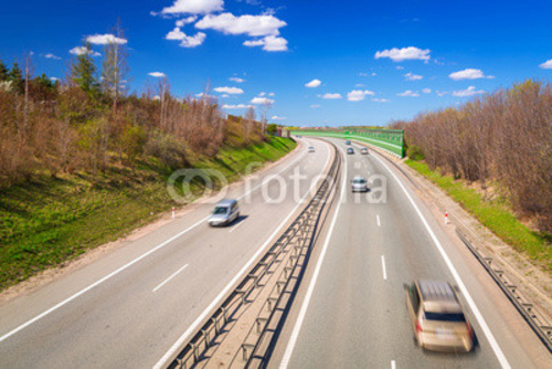 Bild auf Leinwand   Highway bypass near Gdansk in Poland