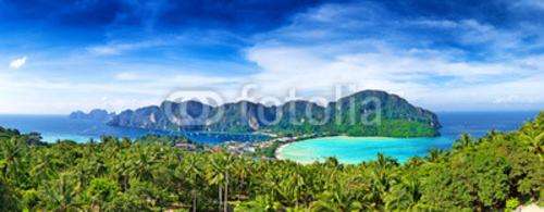 Bild auf Leinwand   Panorama of Phi-Phi island, Krabi Province, Thailand