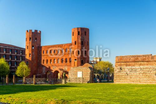 Bild auf Leinwand   Porta Palatina, a Roman gate in Turin -