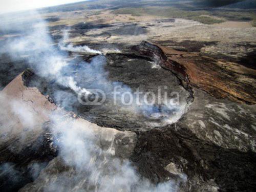 Bild auf Leinwand   Hawaii big island smoKönig volcano